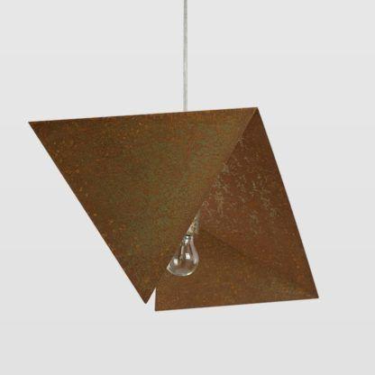lampa wisząca, designerska, efekt rdzy