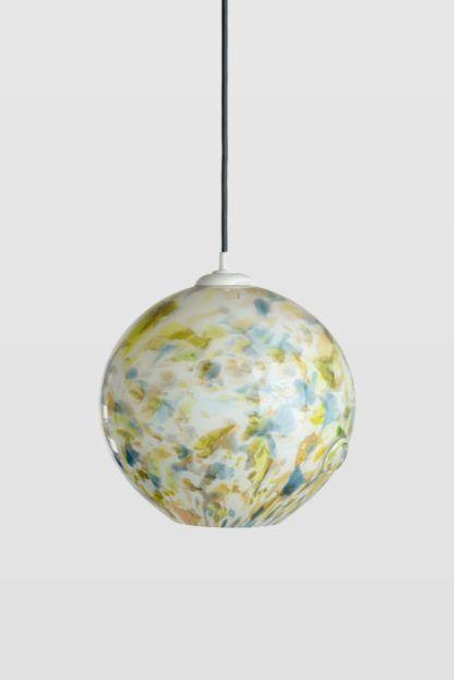 lampa wisząca szkło barwione, kula