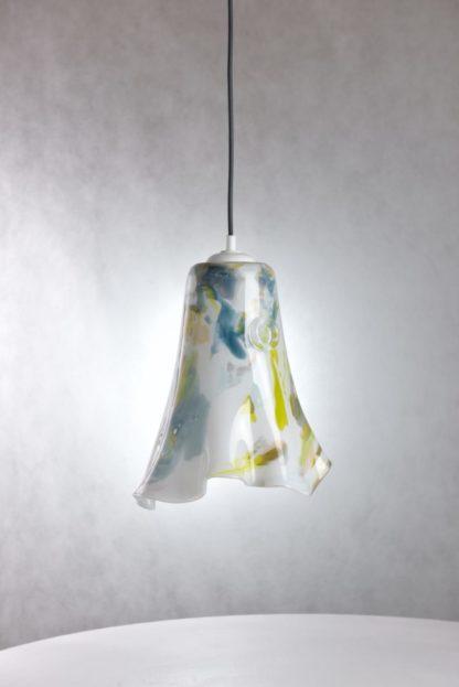 lampa wisząca ze szkła, dekoracyjny klosz