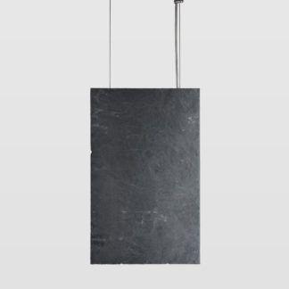 Lampa wisząca Plate - pionowa, grafitowa