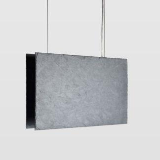 Lampa wisząca Plate - grafitowa, pozioma