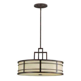 Elegancka lampa wisząca Fusion - szklany klosz, brązowa
