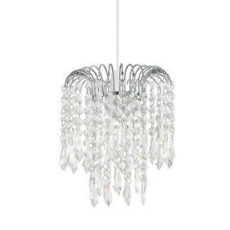 Elegancka lampa wisząca Levens – dekoracyjne kryształki, styl glamour