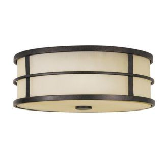 Szklana lampa sufitowa Fusion - beżowa, brązowa