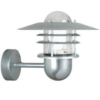 Zewnętrzny kinkiet Agger - Nordlux - srebrny, szklany, IP54