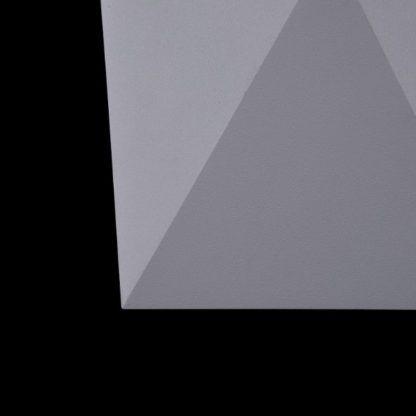 biały, geometryczny kinkiet