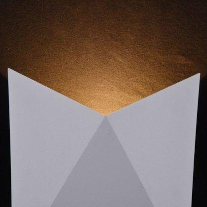 nowoczesny, geometryczny, biały kinkiet
