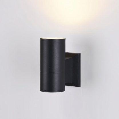 czarna tuba, kinkiet nowoczesny, zewnętrzny