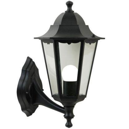 klasyczny kinkiet zewnętrzny, czarny, latarnia