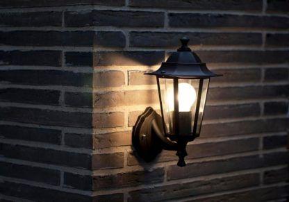 czarna lampa zewnętrzna, kinkiet latarnia, klasyczny