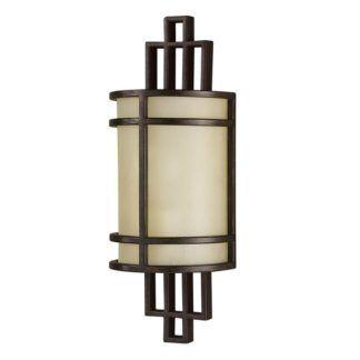 Elegancki kinkiet Fusion - beżowe szkło, brązowa oprawa z metalu