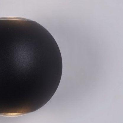 nowoczesny, czarny kinkiet kula