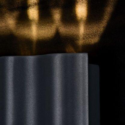 metalowy, ciemnoszary kinkiet natynkowy, zewnętrzny