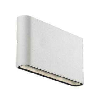 Minimalistyczny kinkiet ścienny Kinver - Nordlux - biały, IP54, pionowe światło