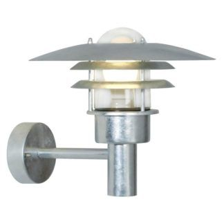 Srebrny kinkiet Lønstrup 32 - stalowy, IP44