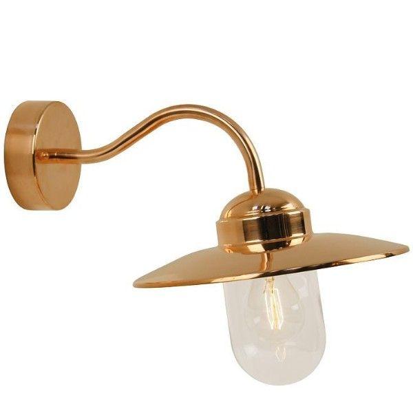metalowy, złoty kinkiet zewnętrzny, klasyczny
