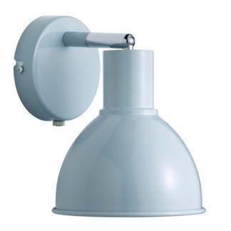 Pastelowy kinkiet Pop - Nordlux - metalowy, regulowany klosz, błękit