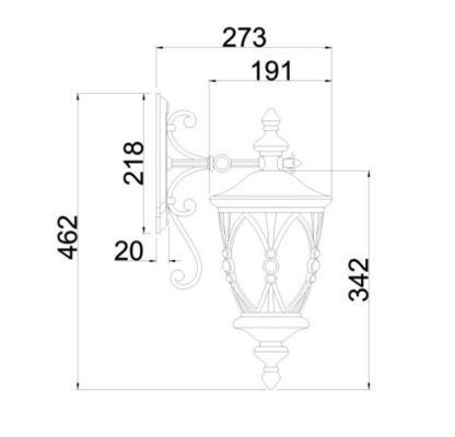 klasyczny kinkiet zewnętrzny, latarnia