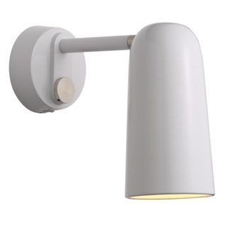 Metalowy kinkiet Tippy - Nordlux - DFTP - podłużny, biały klosz