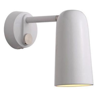 nowoczesny kinkiet w stylu skandynawskim, biały, metalowy, ze ściemniaczem