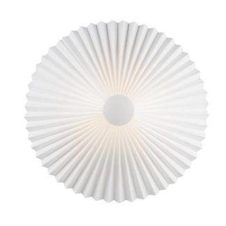 Biały kinkiet Trio 45 - Nordlux - plisowany klosz, nowoczesny design