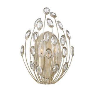 Efektowny kinkiet Tulah - połyskujące kryształki, srebrno-złoty