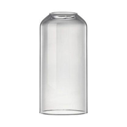 szary, szklany klosz do lampy wiszącej