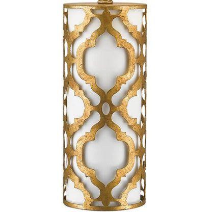metalowa podstawa do lampy stołowej, wzór w arabeskę