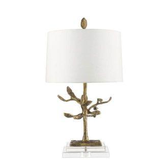 Oryginalna lampa stołowa Audubon - złota, kremowa