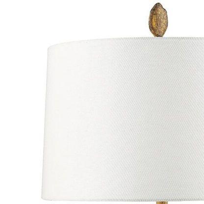 biały abażur do lampy stołowej