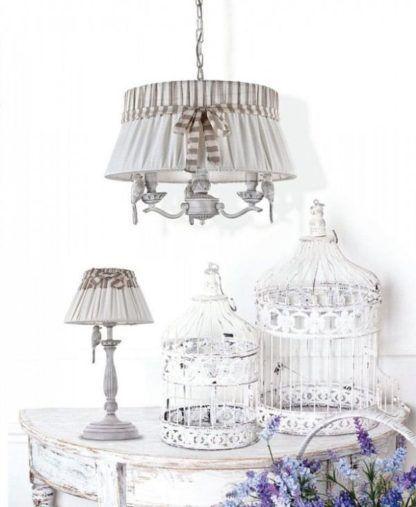 kolekcja lamp w stylu vintage, shabby chic - aranżacja