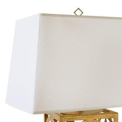 biały abażur z lamówką, do lampy stołowej