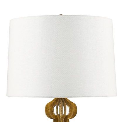 lampa stołowa z białym abażurem , klasyczna