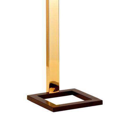 złota lampa stołowa, nowoczesna