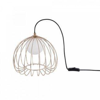 Złota lampa stołowa Polly - ażurowa, scandi