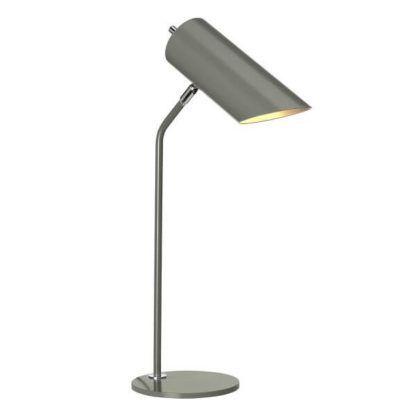 grafitowa lampa stołowa, biurkowa w stylu nowoczesnym, tuba