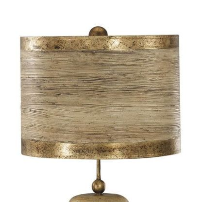 designerska lampa stołowa eco, złoto, beż