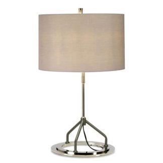 Elegancka lampa stołowa Vicenza - srebrna, szara