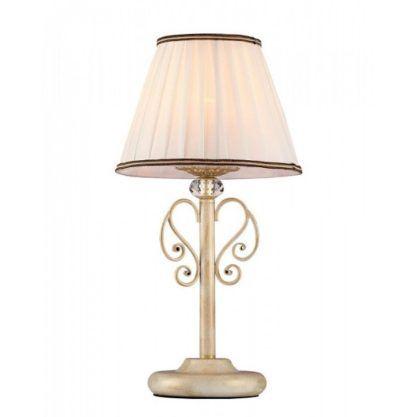 kremowa lampa stołowa w stylu klasycznym, tradycyjny abażur