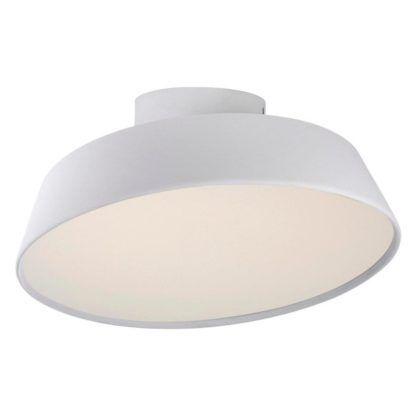 lampa sufitowa z mlecznym dyfuzorem, nowoczesna, biała
