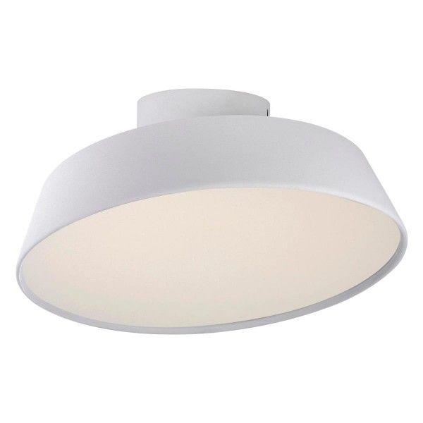 okrągła lampa sufitowa z dużym,białym kloszem, styl nowoczesny, regulowany kąt nachylenia