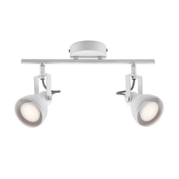 nowoczesna lampa sufitowa, biała , regulowane reflektory