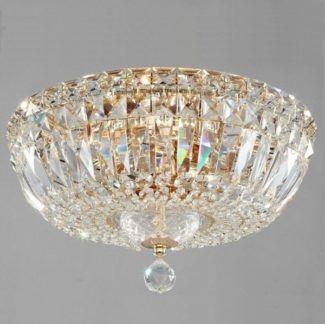 Kryształowy plafon Basfor - okrągły klosz