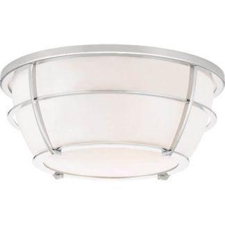 Szklany plafon Chance - srebrna oprawa, nowoczesny