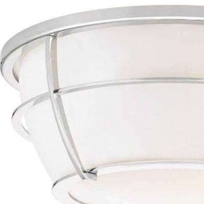 szklany plafon z srebrnej obudowie, styl nowoczesny, mleczny