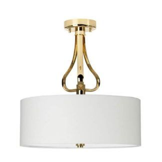 Stylowa lampa sufitowa Rosa - złota, jasny klosz