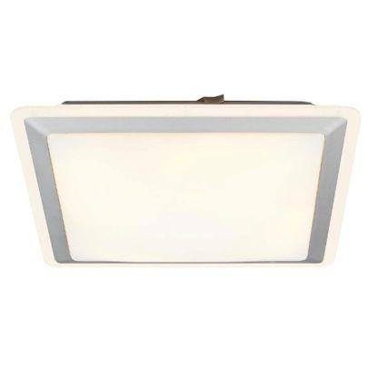 designerska, kwadratowa lampa sufitowa ze srebrną ramą, nowoczesna