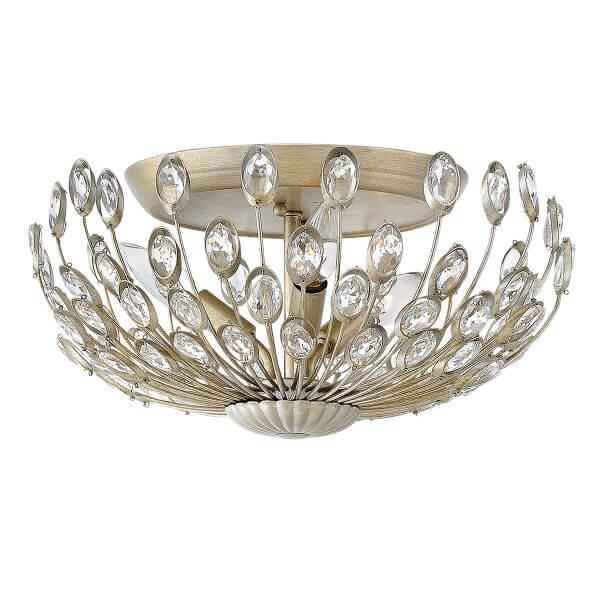 efektowna lampa sufitowa,ogon pawia, złota z kryształkami, glamour, luksusowa