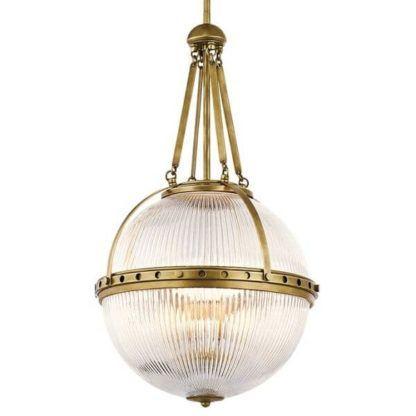 gotycka lampa wisząca, złota, szklana kula, klasyczne dekoracje