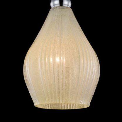 elegancka, klasyczna lampa wisząca z barwionego szkła